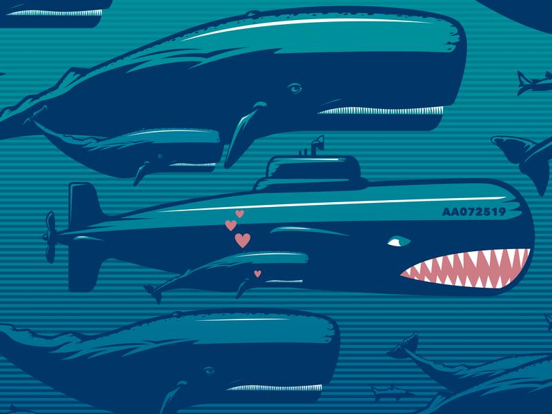 Annie Bacon Release Poster Excerpt ocean whale nautical design poster art illustration digital art