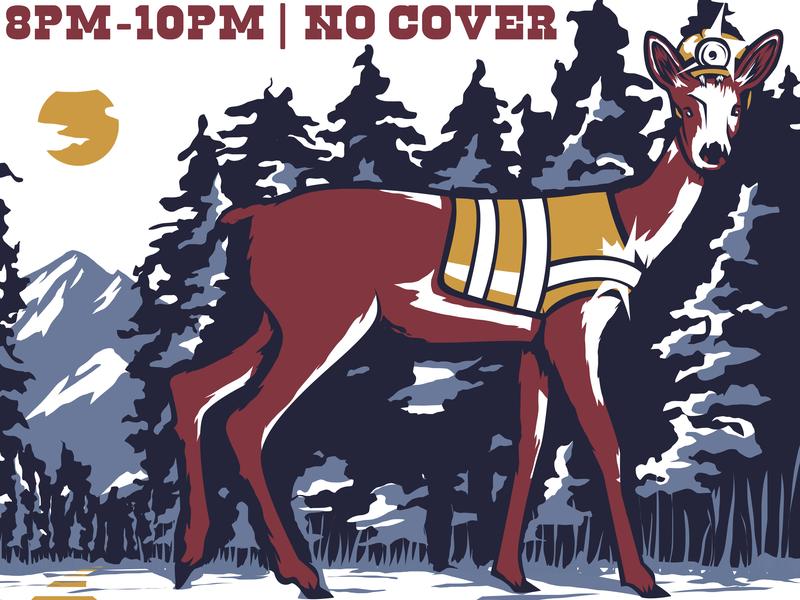 June 22 - Poster Excerpt forest animals forests nature live music design poster art illustration digital art