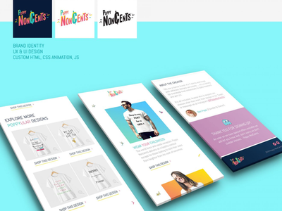 Poppy NonCents Apparel Brand Launch start up e-commerce design ux ui