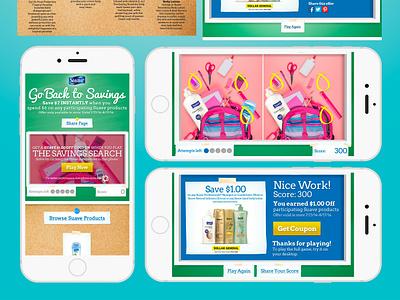 Dollar General Back To School Suave Photo Match Game UI design vector ecomm illustration ui designer ux designer uidesign