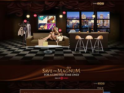 Explore the Magnum Pleasure Lounge at Target ecomm art direction ui ux designer game ui game uidesign