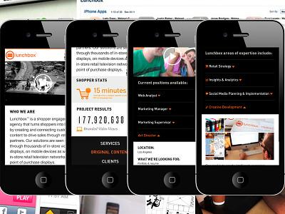 Lunchbox™ Mobile Website design mobile redesign uidesign ui