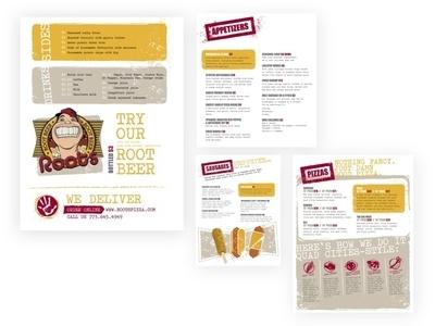 #TBT Roots Pizza Menu Design illustration menu design print art direction design