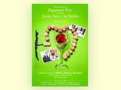 #TBT Engagement Party Invitation Design invitation design poster design visual art art direction design
