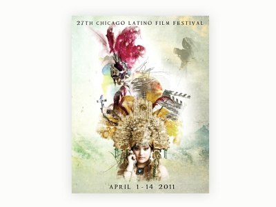 #TBT 2011 Chicago Latino Film Festival Poster Design flyer design graphic  design poster art illustration art direction design