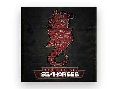 Munster Swim Club Team Logo Design illustration logo art direction design