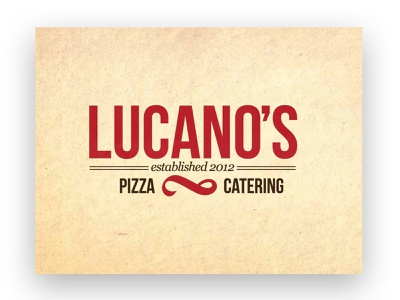 Lucano's Pizza and Catering Logo Design branding vector logo illustration art direction design