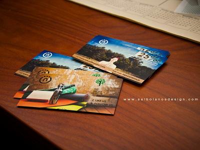 Natural Fitness Event Coupon Cards busines card branding art direction art design business card design