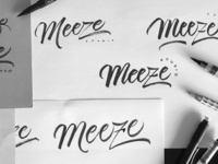 meeze logotype sketchs