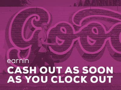 Cash out as you clock out ads brand