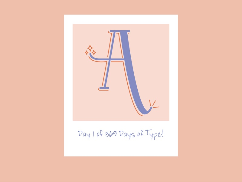Day 1 of 365 Days of Type! 365daysoftype daysoftype day1of365 day1 handlettered adobecreativesuite letter letterform illustration 365 day project 365 365 days of type