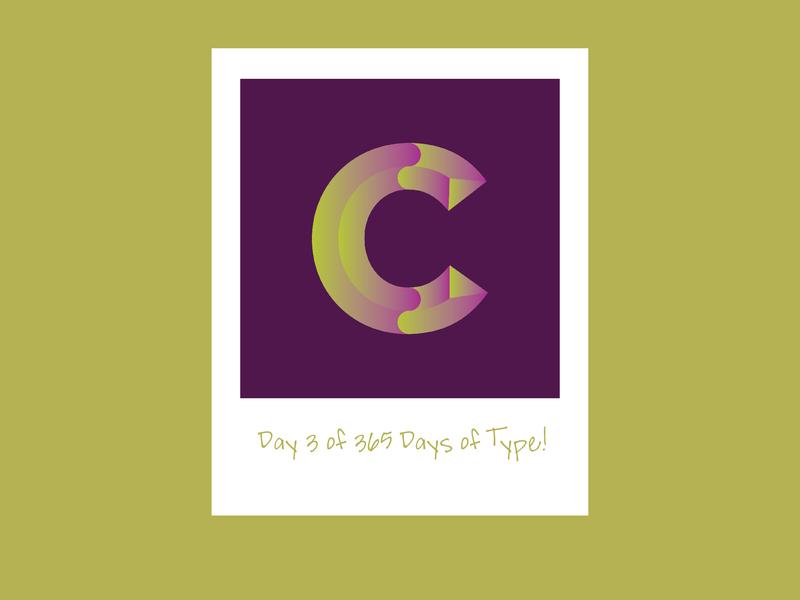 Day 3 of 365 Days of Type! adobe creative suite typography typedesign 365daysoftype 365 daysoftype day3of365 day3 adobecreativesuite letterform chiseledletterform chiseled vector design illustration
