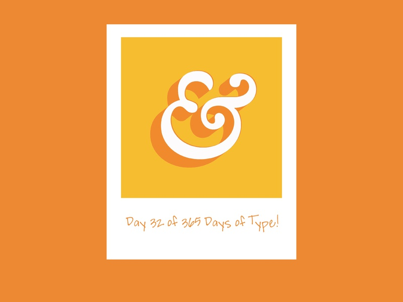 Day 32 Days of Type! adobe art illustration typography art 365 days of type 365 day project type design daysoftype type graphicdesign adobe creative suite typedesign typography letterform adobecreativesuite 365daysoftype 365 vector design ampersand
