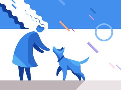 Dog training school | illustration dogs vector illustration