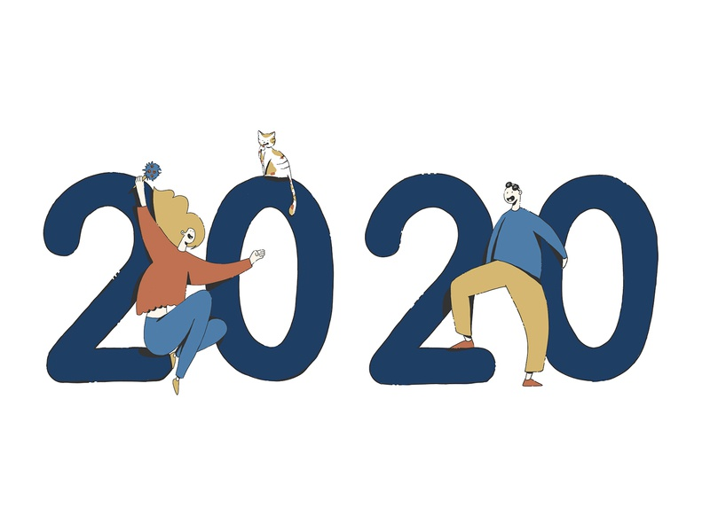 2020 cat illustration 2020
