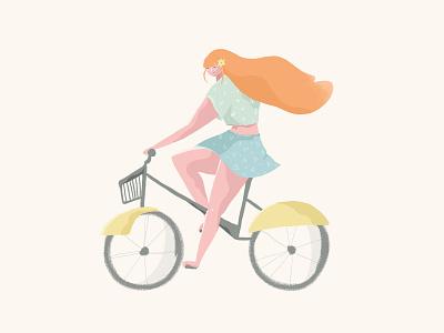Bike redhead bike illustration