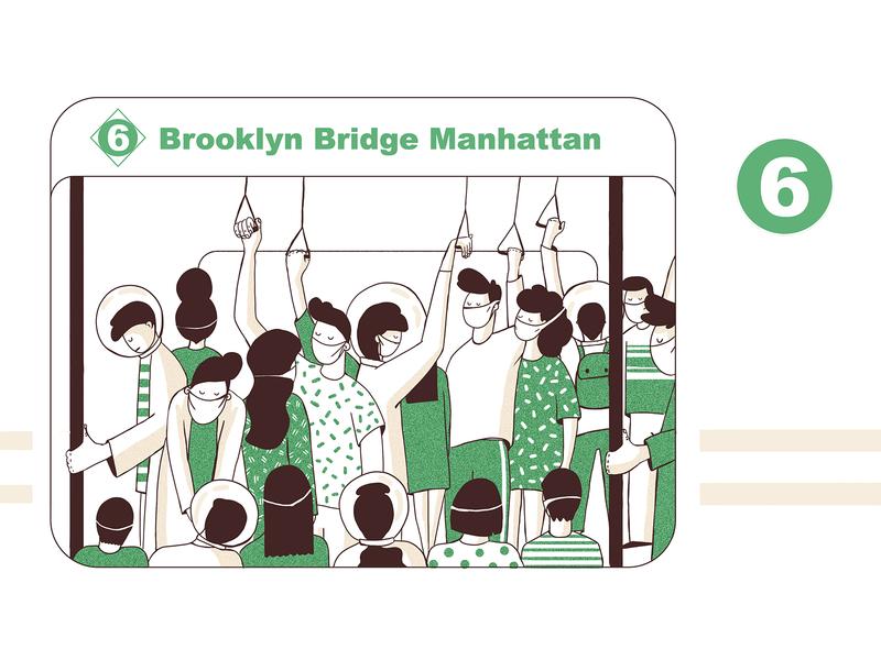 Covid19 6train nyc manhattan subway covid19 coronavirus corona