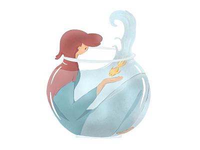 Life in a fishbowl fishbowl illustration