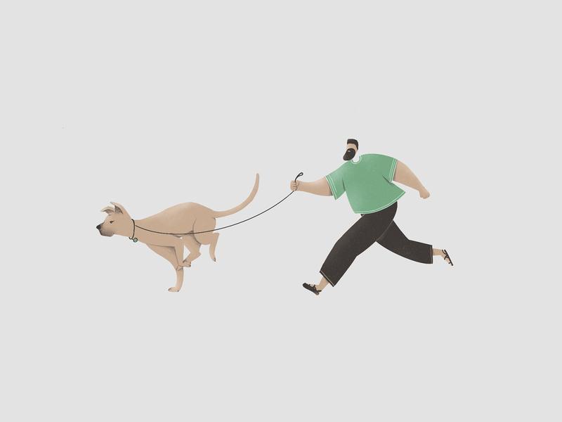 Nadav run people dog
