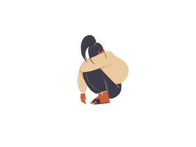 Sad covid19 girl sad