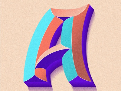 A -  36Days procreate procreate art typography illustration colorful lettering