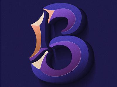 Day 2: Letter B bevel colorful typography lettering artist illustrator 3d 36daysoftype02 36daysoftype illustration lettering