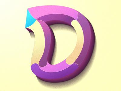 D -  36 days of type 03 procreate illustration colorful typography lettering
