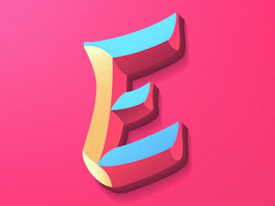 Day 05: Letter E lettering artist colorful typography procreate illustration 36 days of type 36days05 36days 36daysoftype lettering