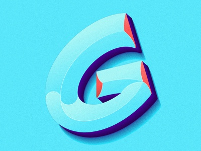 Letter G beveled bevel logotype logo 36days-c 36dayoftype-g 36daysoftype07 36days type letters typeface gradient color gradient 36daysoftype design typography illustration lettering