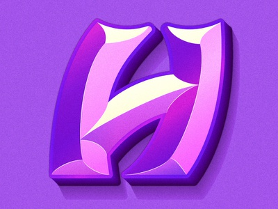 Letter H 3d bevel beveled typedesign logo gradient color 36daysoftype-c alphabet alp type letters typeface 36days vector gradient 36daysoftype07 36daysoftype typography illustration lettering