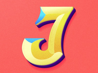 Letter J gradient logo 36days10 gradient type 36days lettering artist design illustration typography 36daysoftype colorful lettering