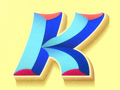 Letter K 36days type design colorful happy lettering artist 36daysoftype illustration typography lettering