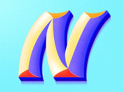 Letter N letter gradient color typography colorful 36days 36daysoftype gradients 36dayoftype illustration gradient lettering artist lettering