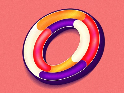 Letter O letter hand lettering typedesign type art typeface 36dayoftype gradient design procreate art happy colorful 36days typography 36daysoftype illustration lettering artist lettering
