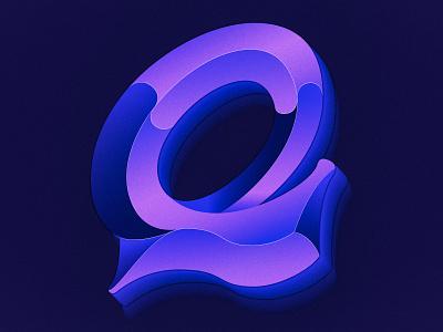 Letter Q lettermark letterq logo gradient colorful design 36daysoftype procreate illustration lettering artist typography lettering