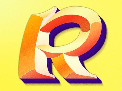 Letter R colorful design type 36days 36daysoftype illustration lettering artist typography lettering