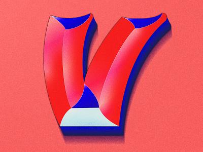 Letter V gradients procreate art lettering artist design colorful gradient 36days 36daysoftype illustration typography lettering