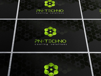 PN-TECHNO visit cards visit card corporate identity logo pattern pn-techno drop fan
