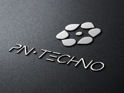 Pn-Techno Metallic Badge logo logo pn-techno metallic badge fan drop corporate identity