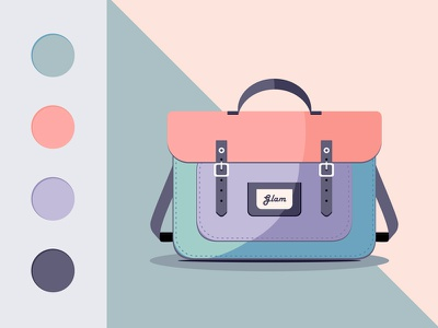 Satchel Bag flat vector satchel fashion bag