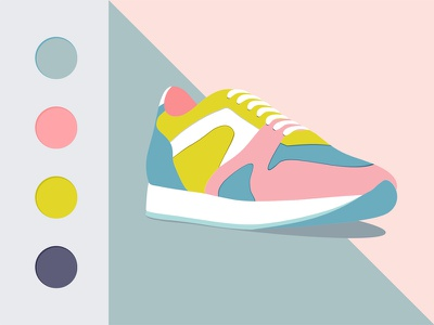 Sneakers Shoes flat vector fashion shoes sneakers