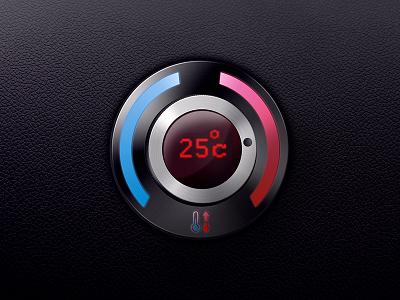 Temperature controls climat control conditioner cold hot car panel auto button controls temperature
