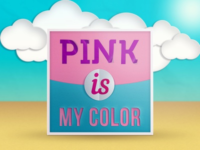 Pink is my color psd free free psd effect paper cut paper photoshop clowds color frame pink