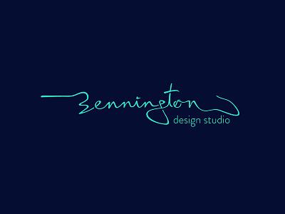 Bennington Design Studio logo type monochrome design studio branding typo logotype typography logo typography logo typeface logo bennington