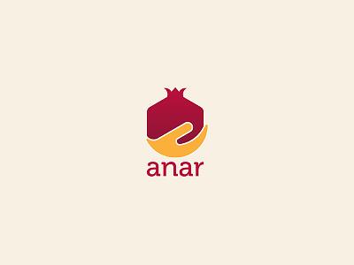Anar Trading & Contracting W.L.L logomark brand logo branding fruit logo pomegranate logo pomegranate anar