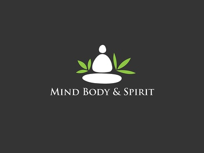 Mind Body & Spirit wellness brand spa branding spiritual logo logo mind body  spirit