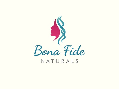Bona Fide Naturals curly hair hair care brand identity fashion logo logo designs cosmetic creative logo branding cosmetic branding