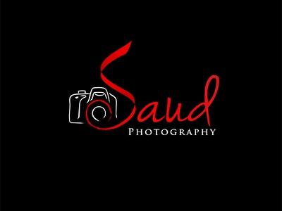 Saud Photography brand identity sign logotype camera logo designer creative camera photographer logo branding photography logo