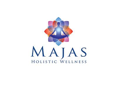 Majas Holistic Wellness Logo logomark designer creative identity health spa brand identity yoga yoga logo brand wellness logo wellness