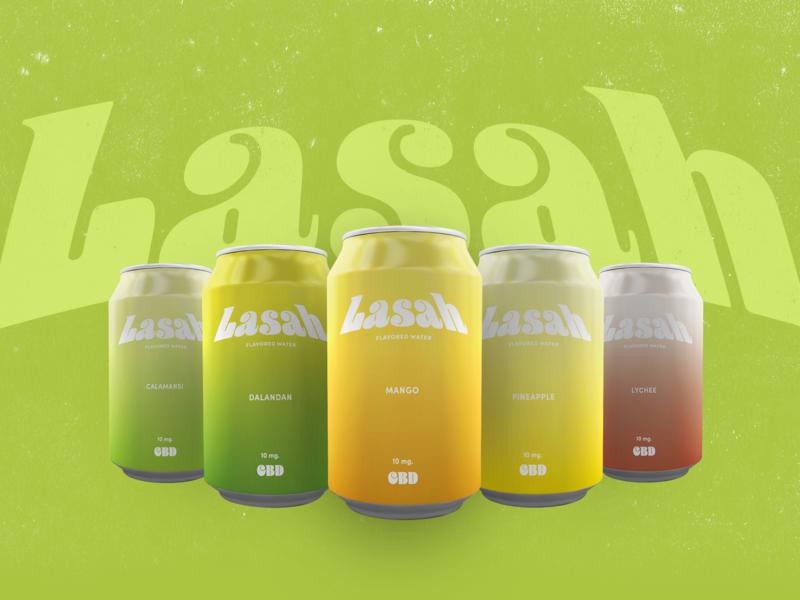 Lasah logo color branding graphic  design adobe illustrator typogaphy package design packaging design